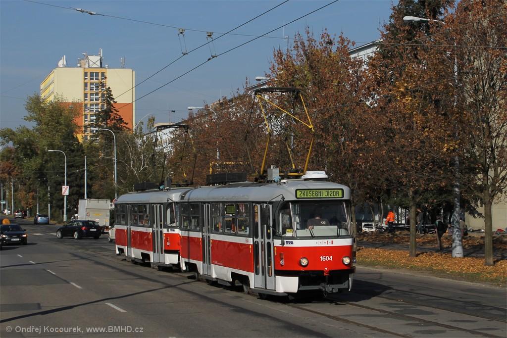 Fotogalerie » ČKD Tatra T3G 1604 | ČKD Tatra T3G 1619 | Brno | Veveří | Kounicova