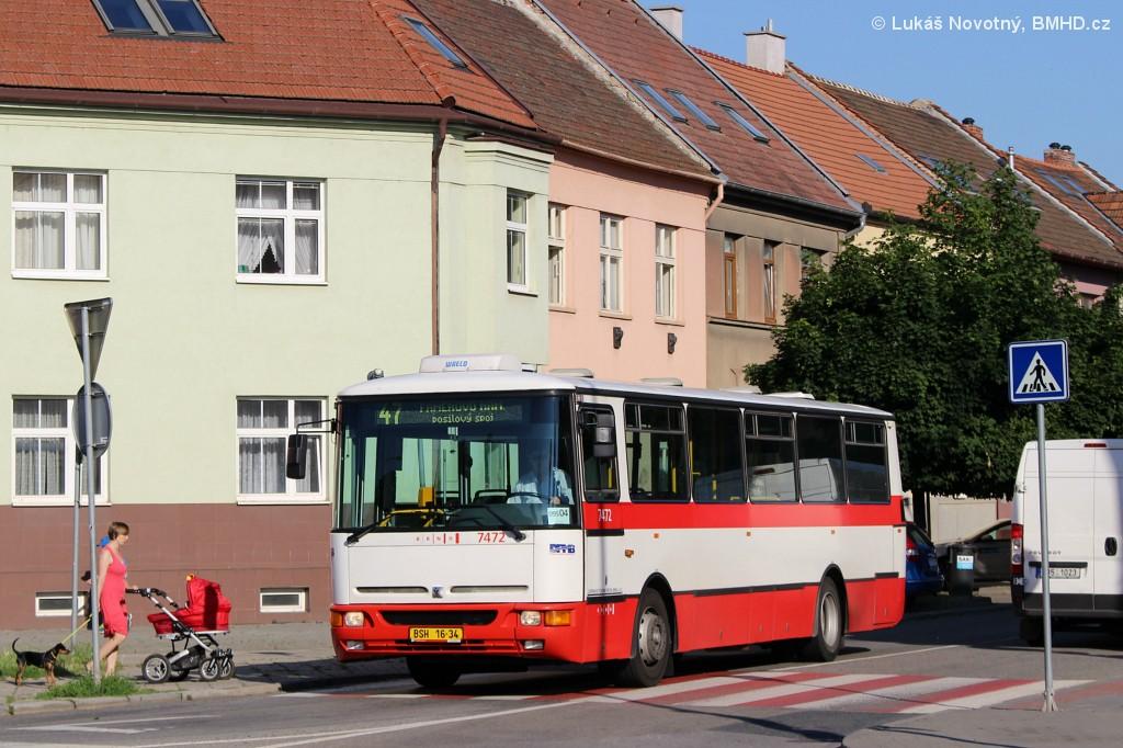Fotogalerie » Karosa B931E.1707 BSH 16-34 7472   Brno   Černovice   Charbulova   Psychiatrická léčebna