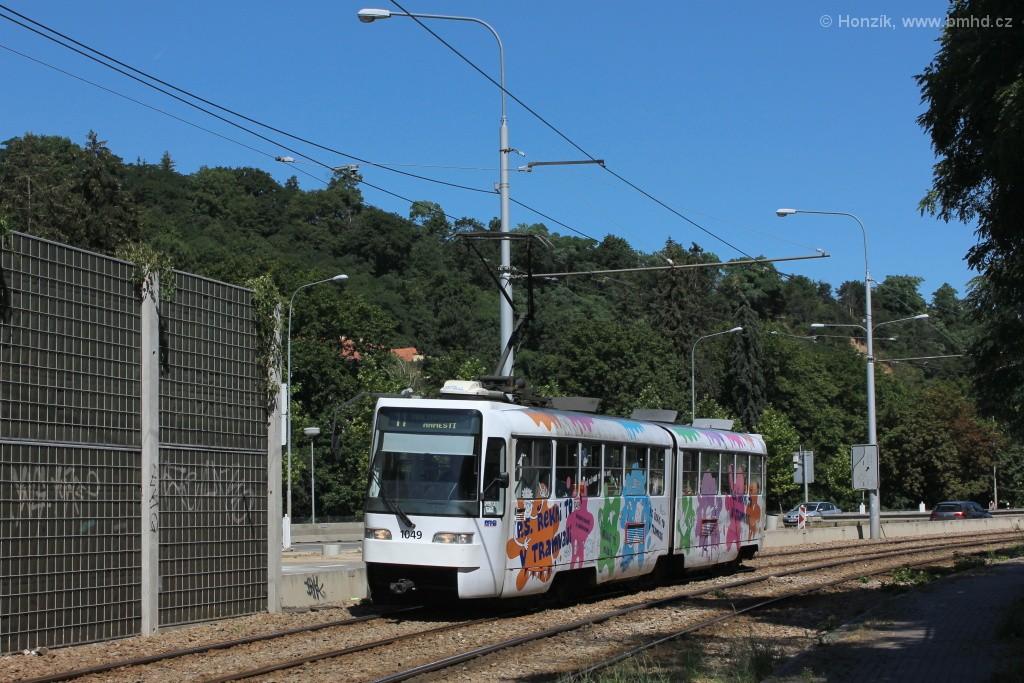 Fotogalerie » ČKD Tatra K2R03-P 1049 | Brno | Pisárky | Žabovřeská