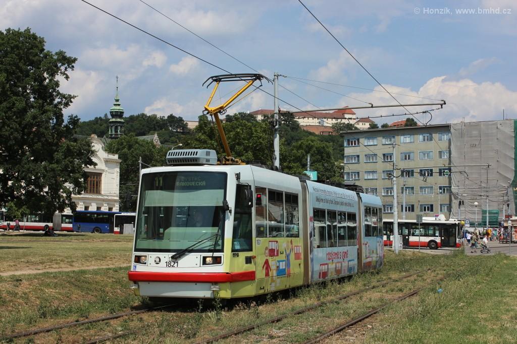 Fotogalerie » Škoda 03T7 1821 | Brno | Staré Brno | Veletržní