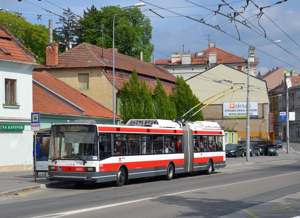 Fotogalerie » Škoda 22Tr 3605 | Brno | Pisárky | Hlinky | Výstaviště, hlavní vstup