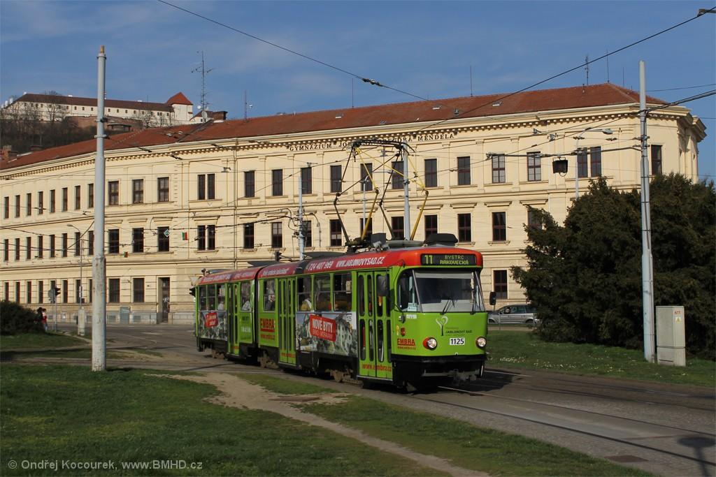 Fotogalerie » ČKD Tatra K2 1125 | Brno | Staré Brno | Mendlovo náměstí