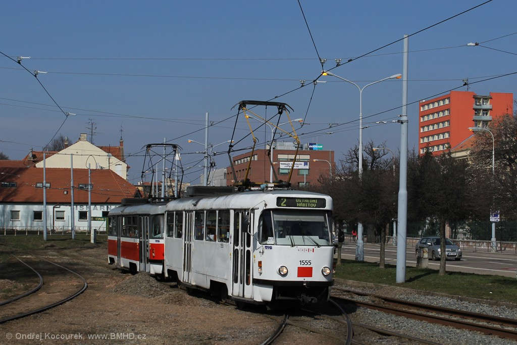 Fotogalerie » ČKD Tatra T3M 1555 | ČKD Tatra T3M 1582 | Brno | Štýřice | Vídeňská