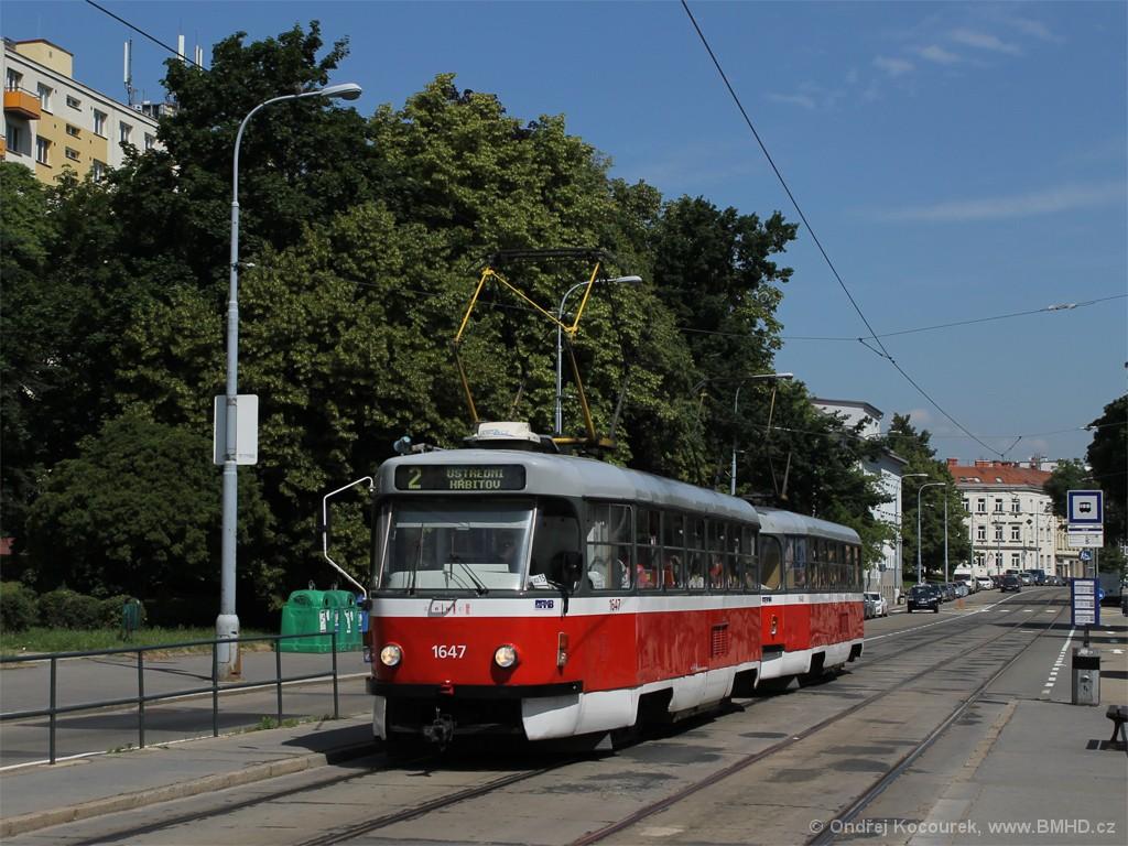 Fotogalerie » ČKD Tatra T3G 1647 | ČKD Tatra T3G 1648 | Brno | Štýřice | Vídeňská