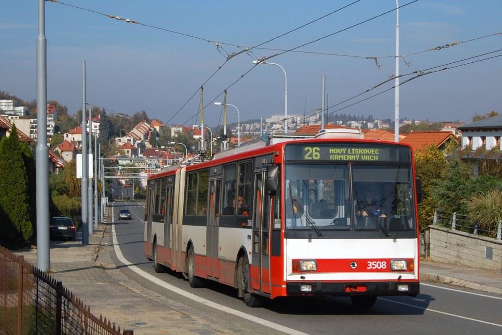 Fotogalerie » Škoda 15TrM 3508   Brno   Nový Lískovec   Rybnická
