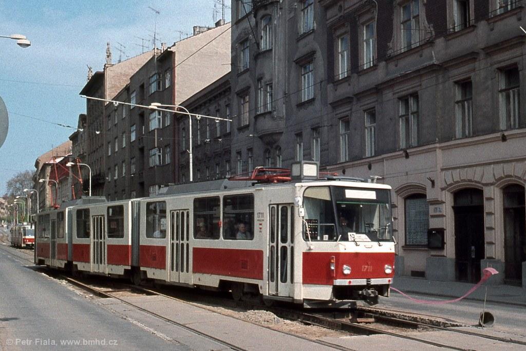 Fotogalerie » ČKD Tatra KT8D5 1711   Brno   Veveří   Veveří