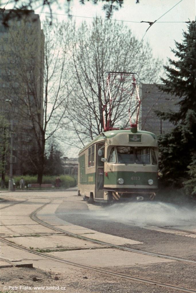 Fotogalerie » Tatra T2 služební 4113   Brno   Královo Pole   Purkyňova   Červinkova, smyčka
