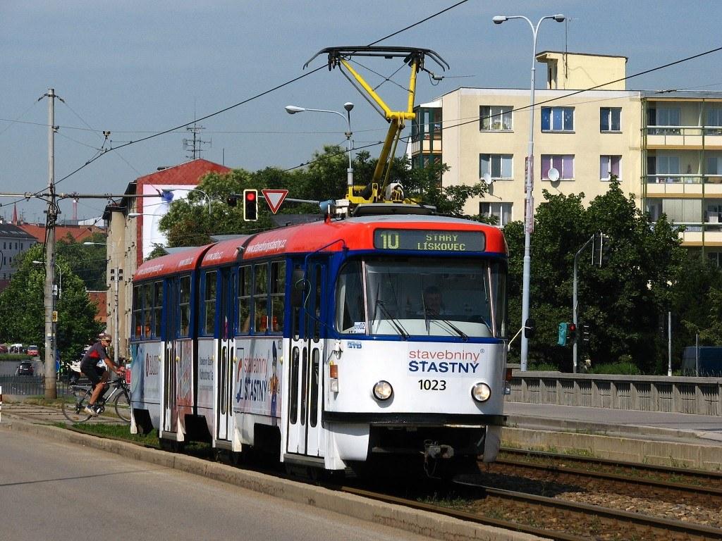 Fotogalerie » ČKD Tatra K2P 1023 | Brno | Štýřice | Renneská