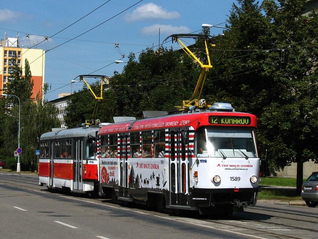 Fotogalerie » ČKD Tatra T3P 1589 | Pragoimex T3R.PV 1558 | Brno | Veveří | Kounicova