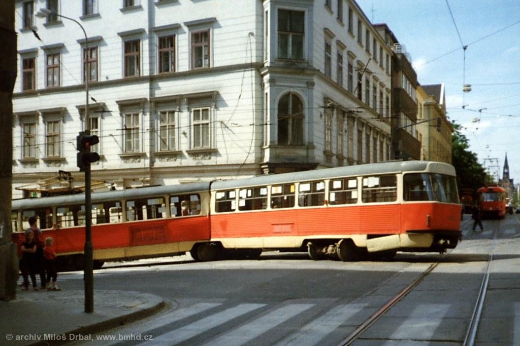 Fotogalerie » ČKD Tatra K2 1053 | Brno | Staré Brno | Pekařská