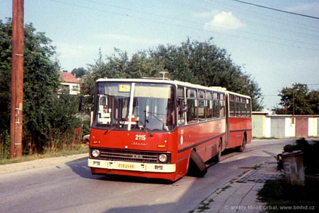 Fotogalerie » Ikarus 280.08 2115 | Brno | Bosonohy | Hoštická