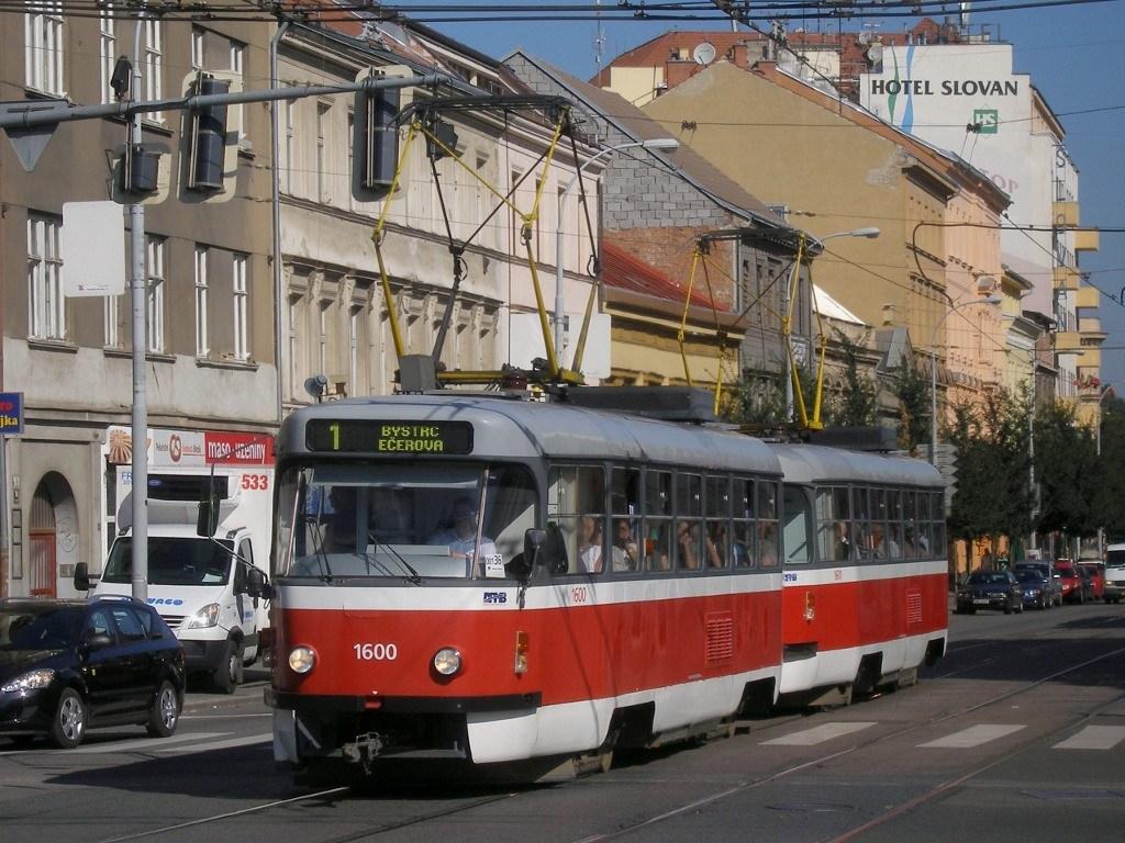 Fotogalerie » ČKD Tatra T3M 1600   ČKD Tatra T3M 1601   Brno   střed   Lidická