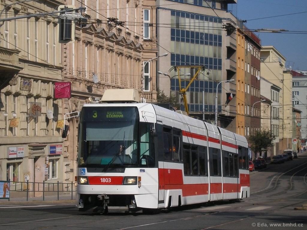 Fotogalerie » ČKD DS RT6N1 1803   Brno   střed   Milady Horákové