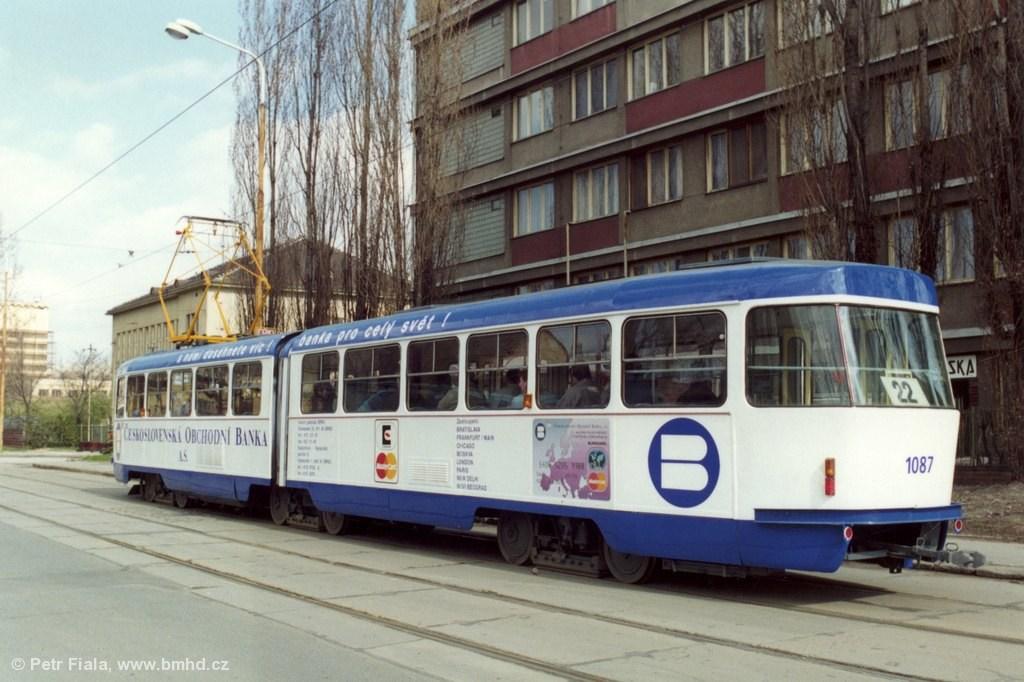Fotogalerie » ČKD Tatra K2MM 1087 | Brno | Trnitá | Dornych | Kovářská