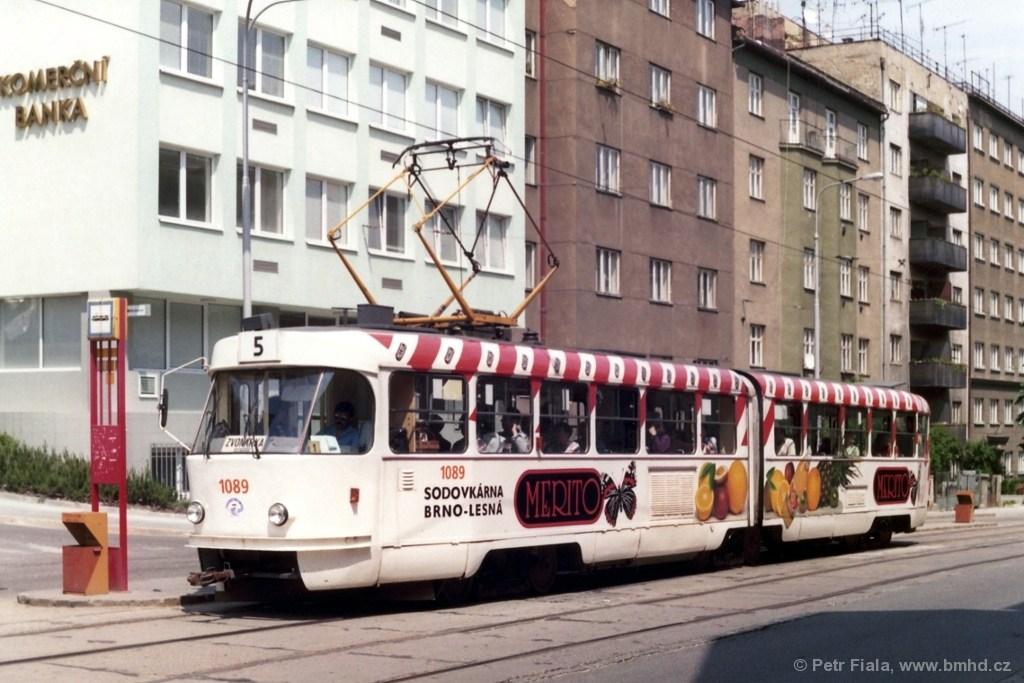 Fotogalerie » ČKD Tatra K2MM 1089 | Brno | Černá Pole | Merhautova | Dětská nemocnice