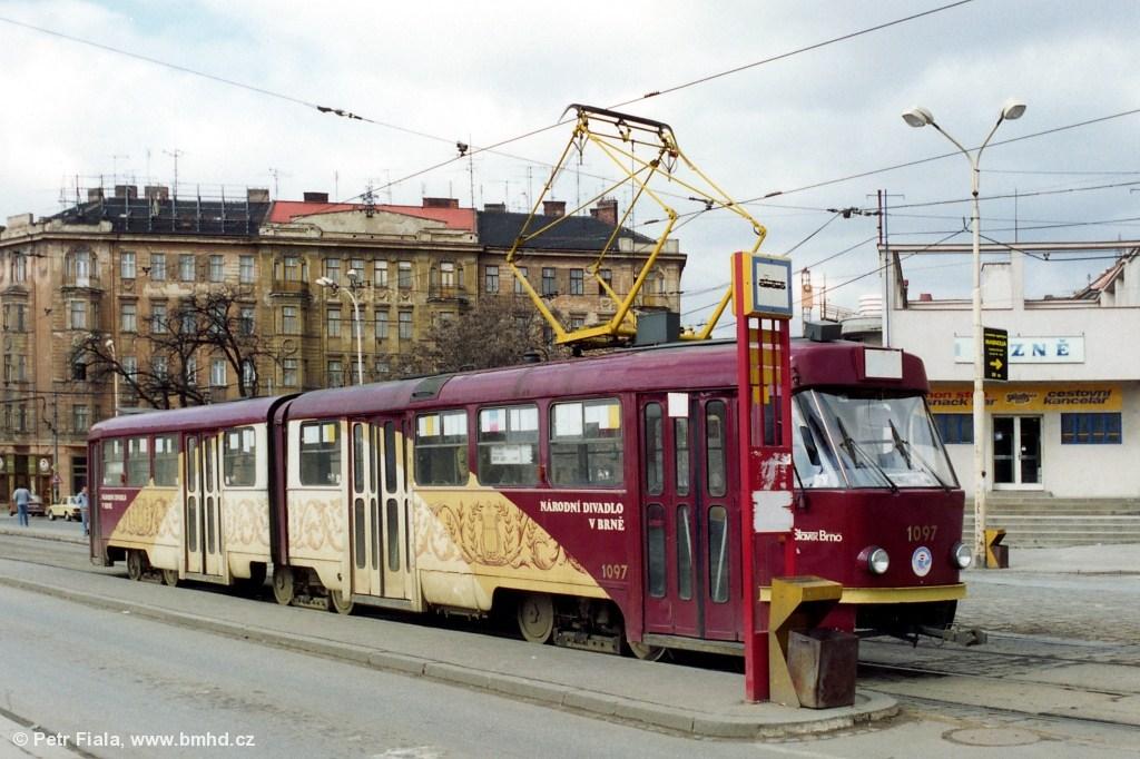 Fotogalerie » ČKD Tatra K2MM 1097 | Brno | střed | Nové sady | Nové sady