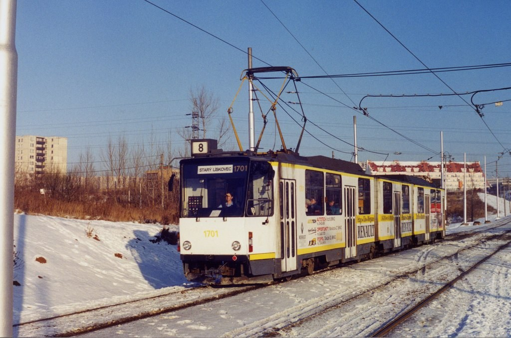 Fotogalerie » ČKD Tatra KT8D5 1701 | Brno | Líšeň | Novolíšeňská