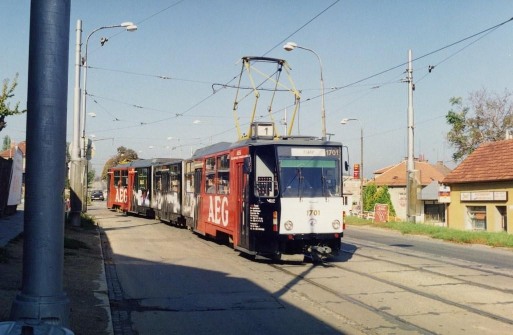 Fotogalerie » ČKD Tatra KT8D5 1701 | Brno | Řečkovice | Banskobystrická