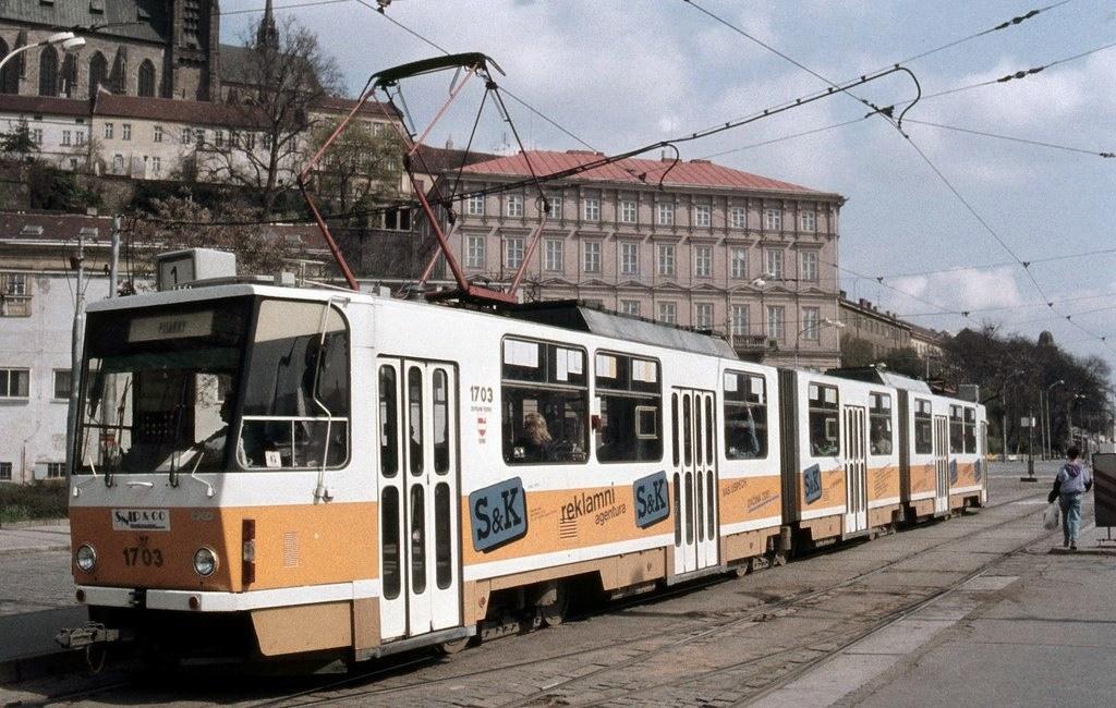 Fotogalerie » ČKD Tatra KT8D5 1703 | Brno | střed | Nové sady | Nové sady