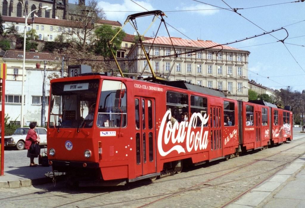 Fotogalerie » ČKD Tatra KT8D5 1704 | Brno | střed | Nové sady | Nové sady