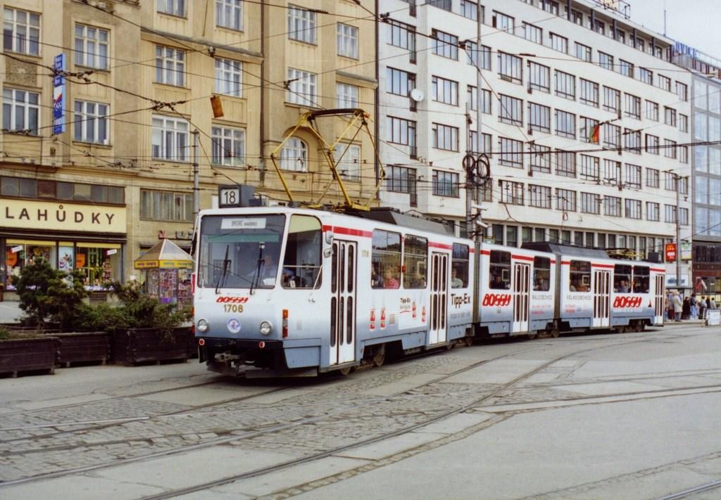 Fotogalerie » ČKD Tatra KT8D5 1708 | Brno | střed | Nádražní