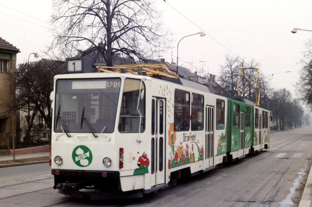 Fotogalerie » ČKD Tatra KT8D5 1709 | Brno | Řečkovice | Banskobystrická