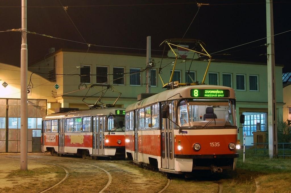 Fotogalerie » ČKD Tatra T3M 1535 | ČKD Tatra T3M 1540 | Brno | vozovna Medlánky