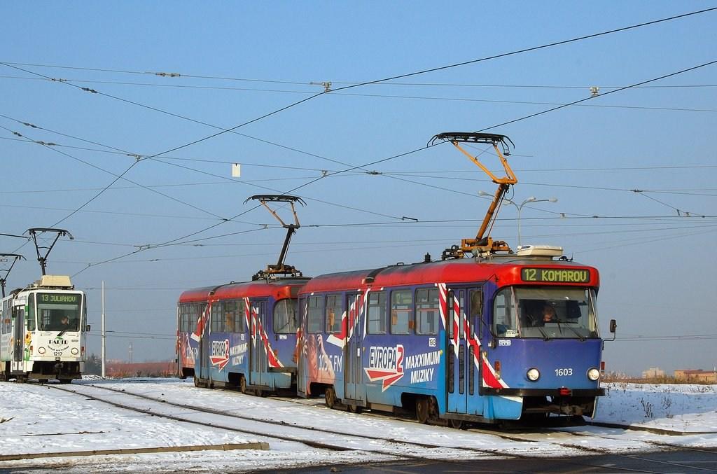 Fotogalerie » Pragoimex T3R.PV 1603 | Pragoimex T3R.PV 1561 | Brno | Medlánky | Purkyňova | Technologický park, smyčka