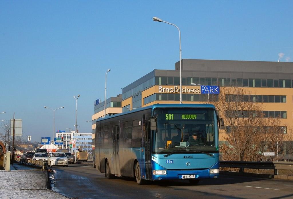 Fotogalerie » Irisbus Crossway LE 12M 6B0 3015   Brno   Horní Heršpice   Vídeňská