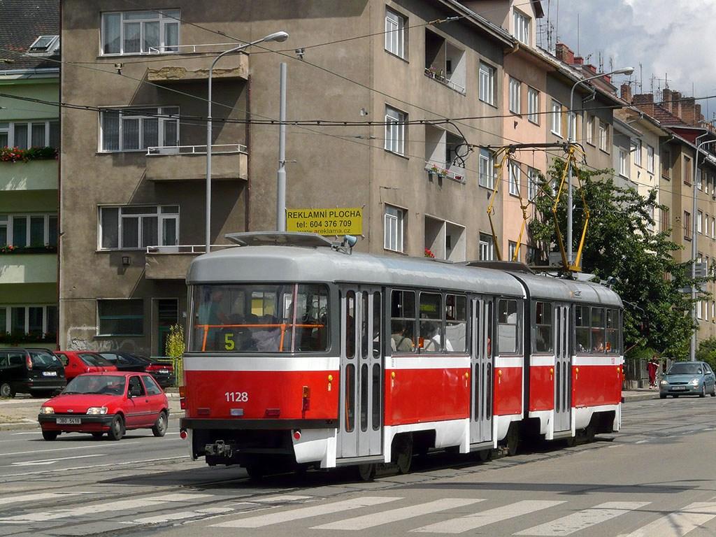 Fotogalerie » ČKD Tatra K2YU 1128 | Brno | Černá Pole | Merhautova