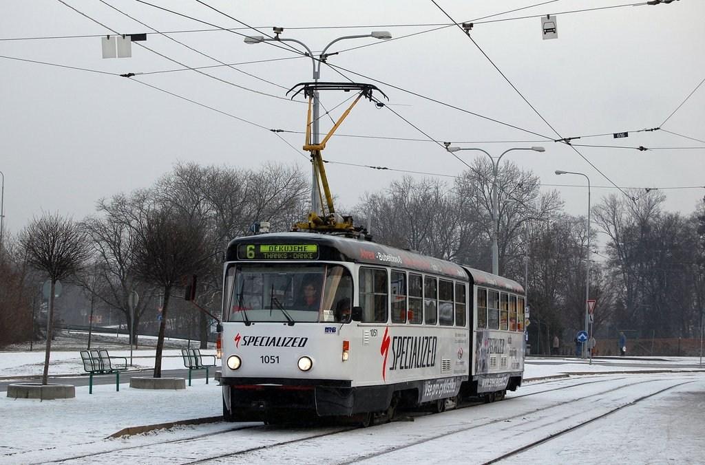 Fotogalerie » ČKD Tatra K2P 1051   Brno   Královo Pole   Budovcova   Královo Pole, nádraží
