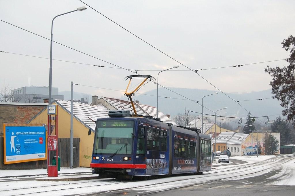 Fotogalerie » Škoda 03T7 1821 | Brno | Žabovřesky | Sochorova | Rosického náměstí