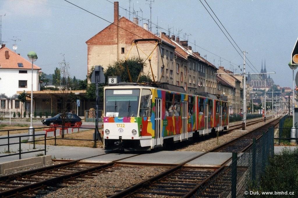 Fotogalerie » ČKD Tatra KT8D5 1722 | Brno | Štýřice | Renneská