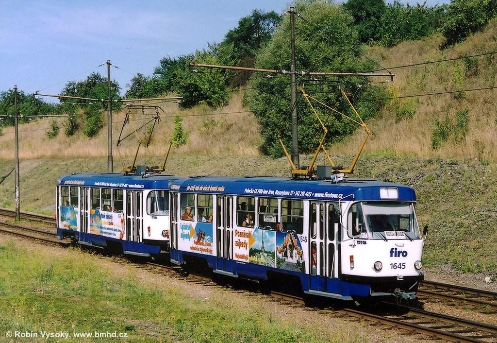 Fotogalerie » ČKD Tatra T3G 1645   ČKD Tatra T3G 1646   Brno   Bystrc