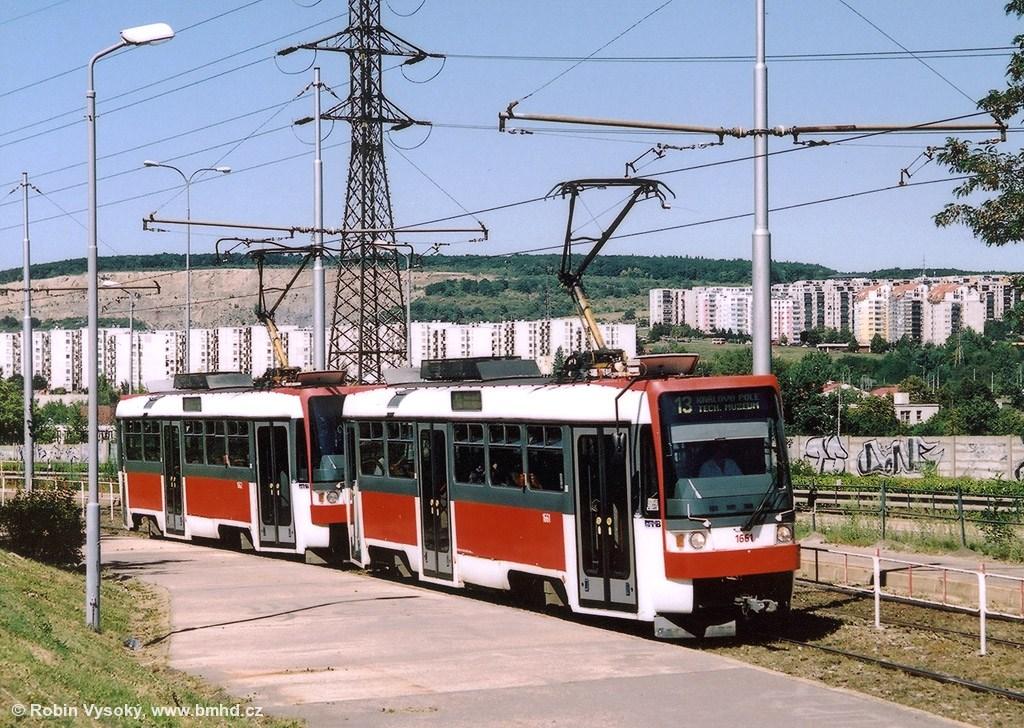Fotogalerie » ČKD DS T3R 1661 | ČKD DS T3R 1662 | Brno | Líšeň | Jedovnická | Bílá Hora