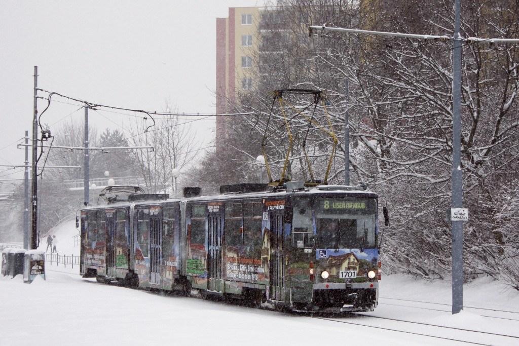 Fotogalerie » ČKD Tatra KT8D5R.N2 1701 | Brno | Bohunice