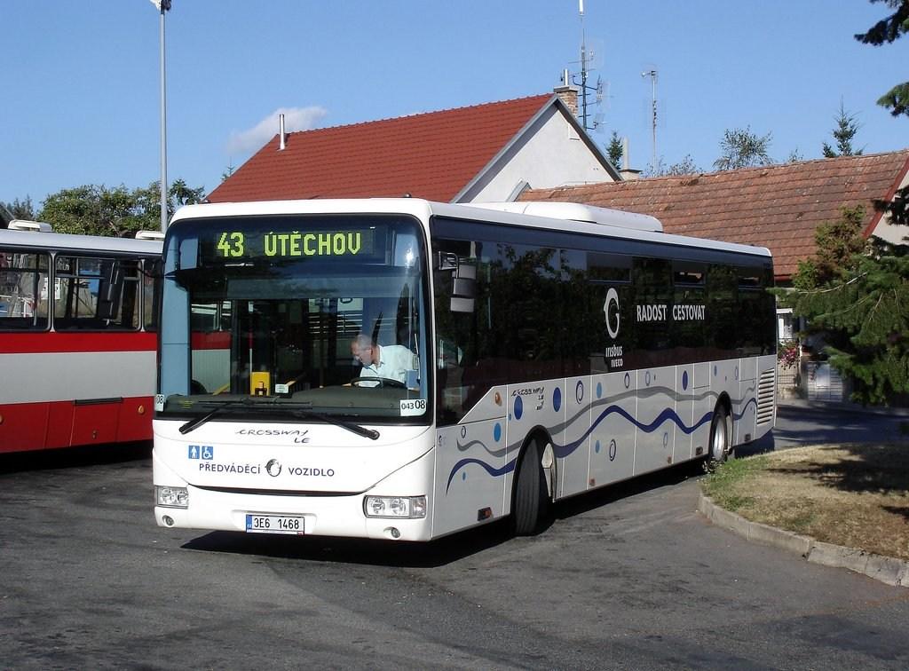 Fotogalerie » Irisbus Crossway LE 12.8M 3E6 1468 2711 | Brno | Útěchov | Adamovská | Útěchov, smyčka