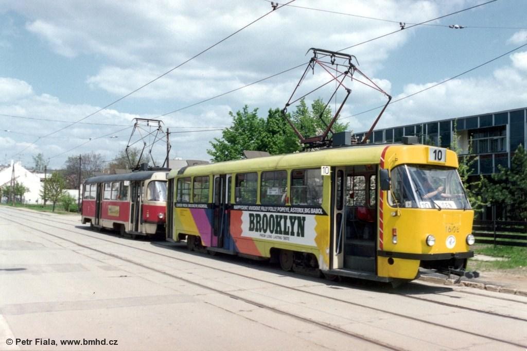Fotogalerie » ČKD Tatra T3SUCS 1608 | Brno | Komín | Jundrovská | Komín, smyčka