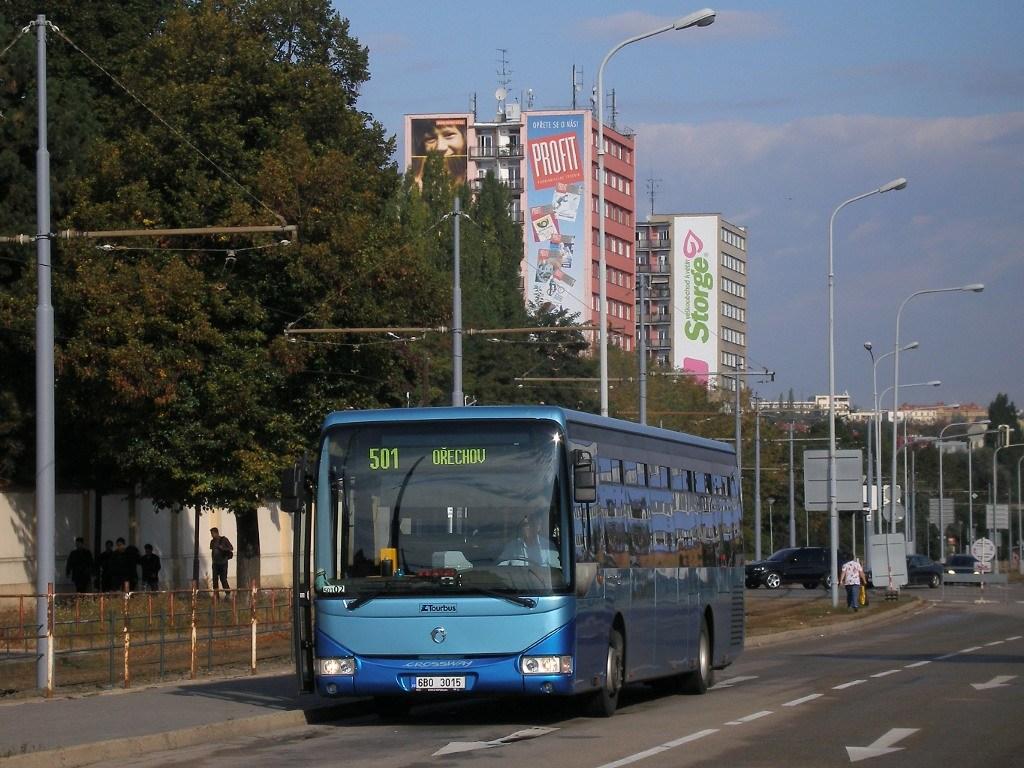 Fotogalerie » Irisbus Crossway LE 12M 6B0 3015 | Brno | Štýřice | Vídeňská | Ústřední hřbitov