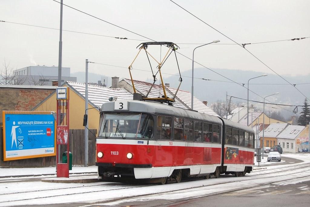 Fotogalerie » ČKD Tatra K2 1103 | Brno | Žabovřesky | Sochorova | Rosického náměstí