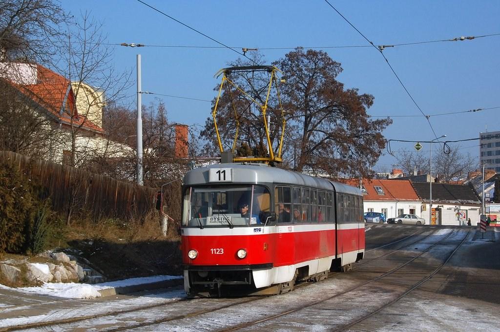 Fotogalerie » ČKD Tatra K2 1123   Brno   Žabovřesky   Sochorova