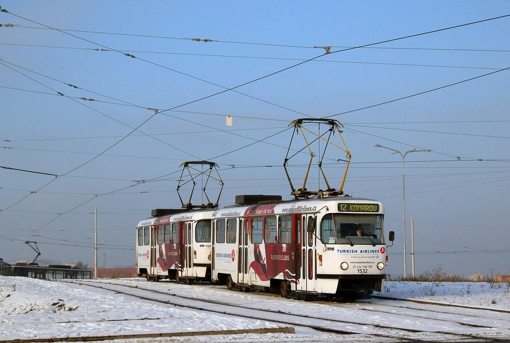 Fotogalerie » ČKD Tatra T3M 1532 | ČKD Tatra T3M 1574 | Brno | Medlánky | Purkyňova | Technologický park, smyčka