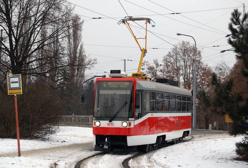 Fotogalerie » ČKD DS T3R 1615 | Brno | Maloměřice | Dolnopolní | Maloměřický most, smyčka