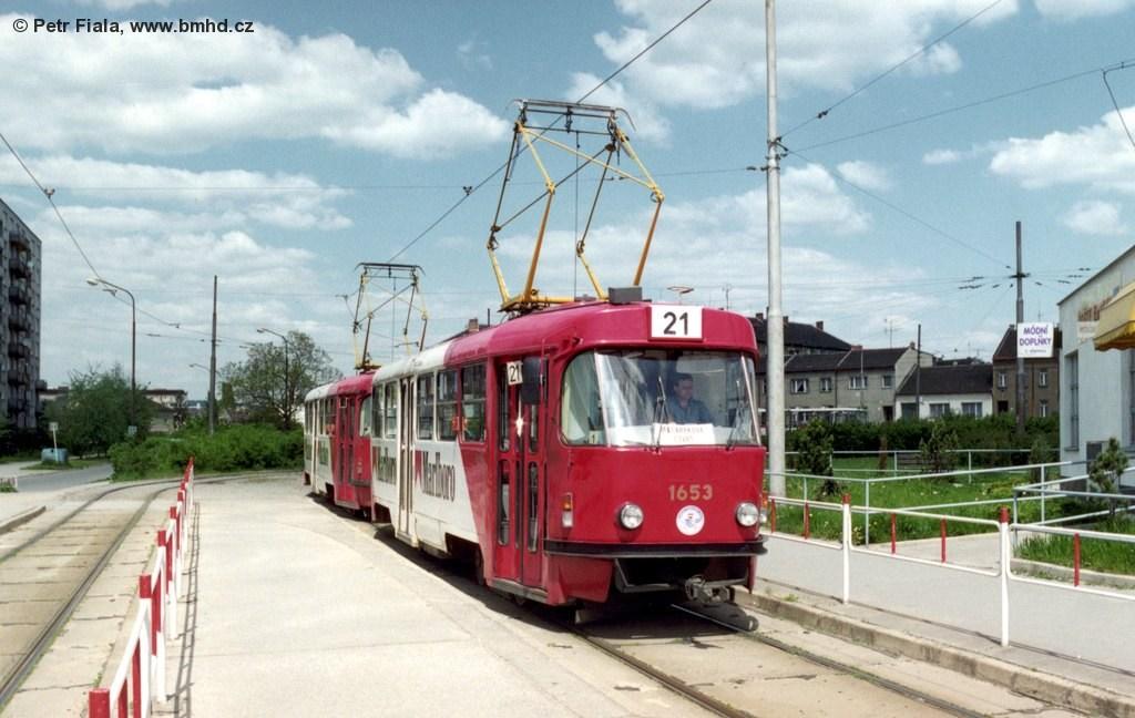 Fotogalerie » ČKD Tatra T3 1653 | ČKD Tatra T3 1654 | Brno | Židenice | Stará osada | Stará osada, smyčka