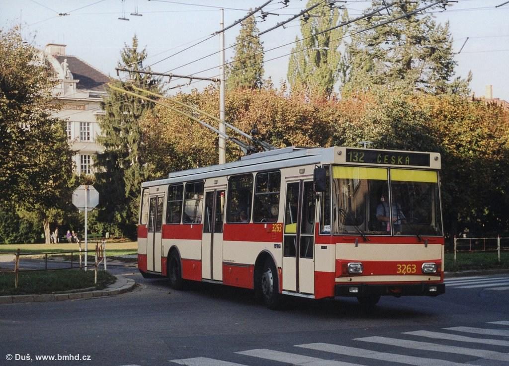 Fotogalerie » Škoda 14Tr14 3263 | Brno | Královo Pole | Slovanské náměstí