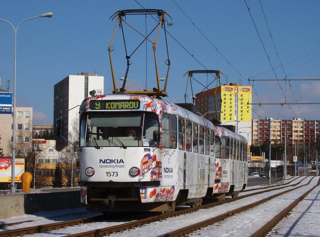 Fotogalerie » ČKD Tatra T3M 1573 | ČKD Tatra T3M 1580 | Brno | Lesná | třída Generála Píky