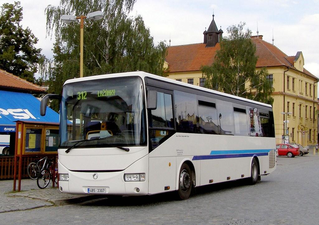 Fotogalerie » Irisbus Crossway 12M 4B5 3307 | Veverská Bítýška | Veverská Bítýška, náměstí