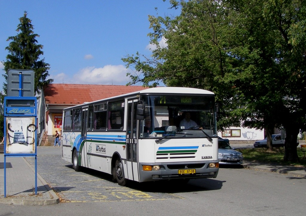 Fotogalerie » Karosa C934E.1351 BSE 97-08 | Kuřim | Nádražní | Kuřim, železniční stanice