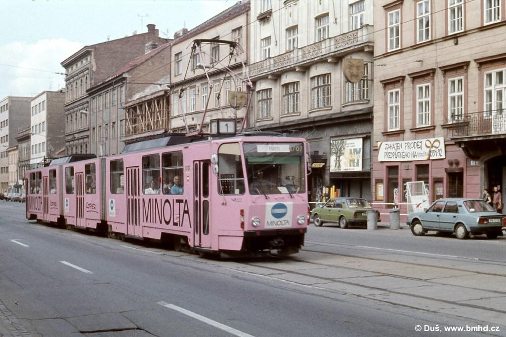 Fotogalerie » ČKD Tatra KT8D5 1707   Brno   střed   Lidická