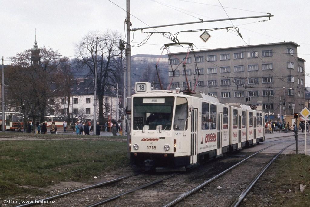 Fotogalerie » ČKD Tatra KT8D5 1718 | Brno | Staré Brno | Mendlovo náměstí